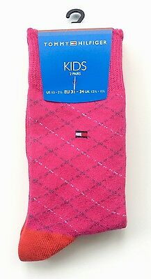 Tommy Hilfiger Kids Designer Girls Socks - 2 pairs BNWT UK 12.5-1.5 EUR 31-34