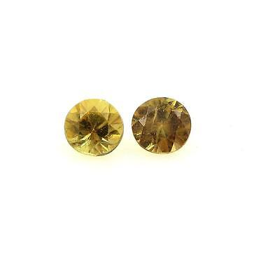 SPHENE yellow. 0.36 cts. 2 pieces IF. Pakistan