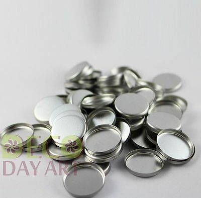 Empty Round Tin Pan for DIY Eyeshadow Responsive to Magnets 36mm