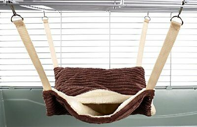 Little Friends Fluffy Lined Hammock W/ Pouch Luxury Chocolate Pet New UK SELLER