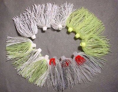 """12 Bio-Flex """"skirts Plus"""" Hole N One Silicone Spinnerbait Skirt Assorted Colors"""