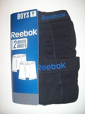 Reebok Boys 2 Pack Boxer Briefs Size Medium 8/10 New Without Package