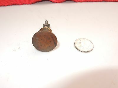 "Antique Victorian Solid Brass Drawer Knob Pull 1 "" D Plain Unadorned • CAD $12.65"