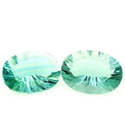 FLUORITE GREEN 2 pieces 26.83 cts. IF. Africa