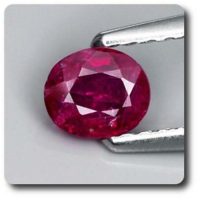 RUBY Red. NON HEATED 0.51 cts. Mozambique, Africa. With Certificate