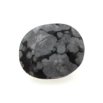 OBSIDIAN FLAKE SNOW . 2.56 cts . Africa