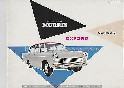 Morris Oxford series V sales brochure