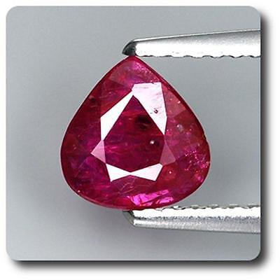 RUBY Red. NON HEATED 0.91 cts. Mozambique, Africa. With Certificate