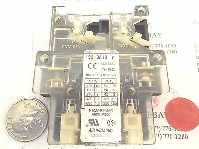 AB/Allen Bradley 195-BA10/A Auxiliary Contact