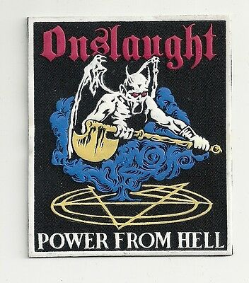 ONSLAUGHT Power From Hell synthetic rubber patch RARE!!!