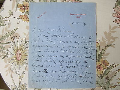 Original hand written and signed letter by Princess Alice Kensington Palace