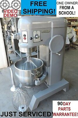 Hobart H600 60 Qt Quart Commercial Bakery Pizza Dough Mixer From a School!!