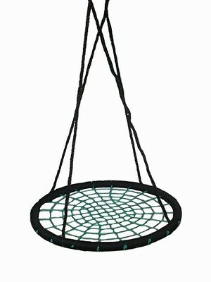 NEST SWING ROUND Childrens Web Swing Seat Spider Group Cubby House Net Rope swin