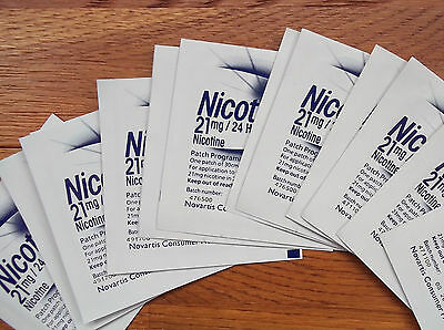 NICORETTE / NIQUITIN / NICOTINELL etc. X 10 Loose Patches (Choose Strength)