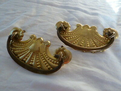 Set of 2 Vintage Drawer Handles / Pulls / Hardware - See Pics!