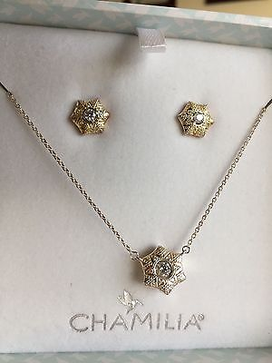 Chamilia Snow Star Necklace & Earring Set 4016-0014
