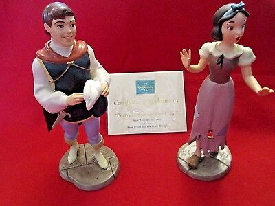 """Wdcc """"i'm Wishing For The One I Love"""" Snow White And Prince Box Coa & Film Title"""