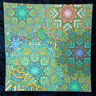 """Blotter Art """"Flowers"""" Perforated Print Paper Psychedelic Collection"""