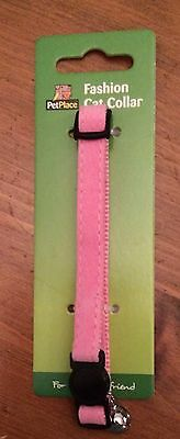 Pink Cat Collar With Bell And Easy Release.