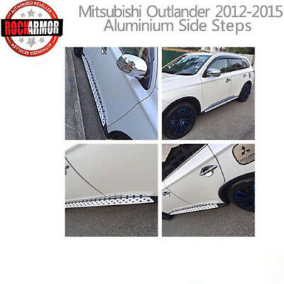 Mitsubishi Outlander 2012-2015 Aluminium Side Steps Running Boards With Brackets