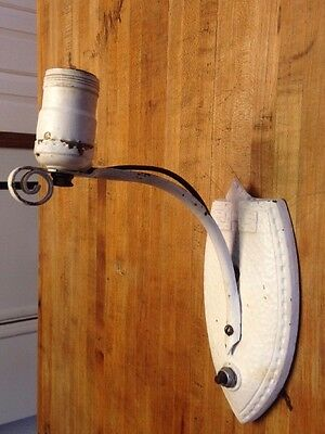 Vintage Art Deco Wall Sconce Antique Cast iron Fixture 1920's Lighting Victorian