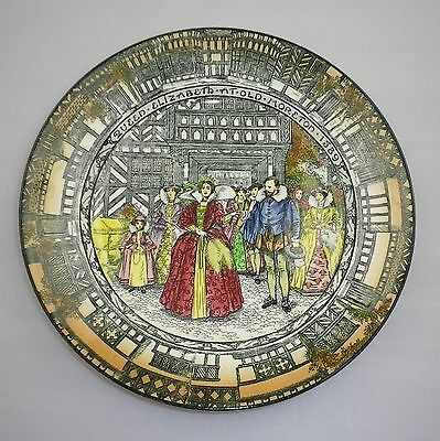 Royal Doulton Series Ware Queen Elizabeth at Old Moreton 1589 Plate