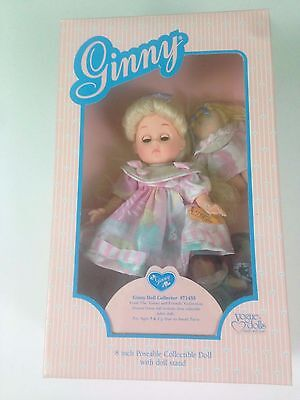"""1988 Vogue GINNY DOLL 8"""" New in Package 71455 Comes with 3 fabric dolls for her."""