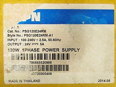 EATON PSG120E24RM 100-240VAC Input 24 VDC Output 5 Amp Power Supply