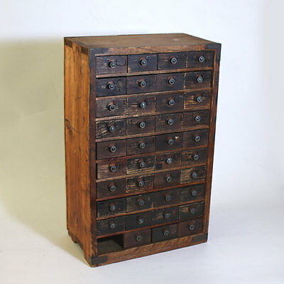 Japanese Antique Chest for medicine / Small drawer Shippingfree from Japan#A0021