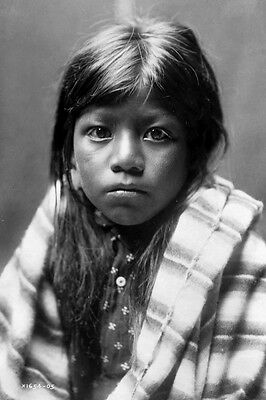 New 5x7 Native American Photo: Ah Chee Lo, North American Indian Child - 1905