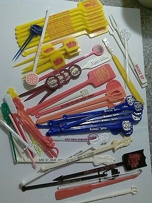 Huge Lot Swizzle Stick Mixed Drink Bar Hotels, Airlines,  Advertising, Hawaii