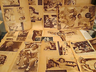 Vintage 1930 Scrapbook Full clippings, Shirley Temple, Dionne Quits