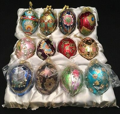 Joan Rivers 2009 Russian Inspired Egg Ornaments RARE COMPLETE SET Of 12