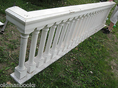 Antique Architectural Balustrade Railing Spindle Wood Turned Church Stage
