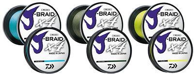 Daiwa J Braid 4 VARIOUS SIZES AND COLOURS Fishing Line BRAND NEW At Compleat Ang