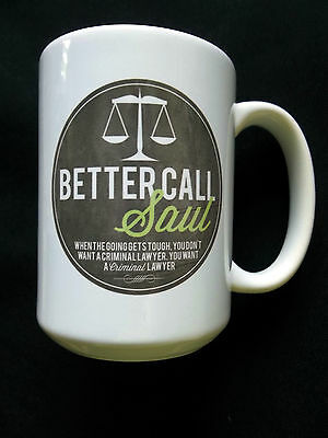 Better Call Saul Breaking Bad Coffee Mug Cup Trademarked Logo