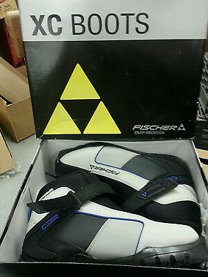 Fischer XC Touring Cross Country Ski Boots Black,Silver,blue EU 40 US 9.5