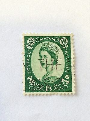 Great Britain1952 Queen Elizabeth II Postage Revenue 1/3,SG 530, Good Used Stamp