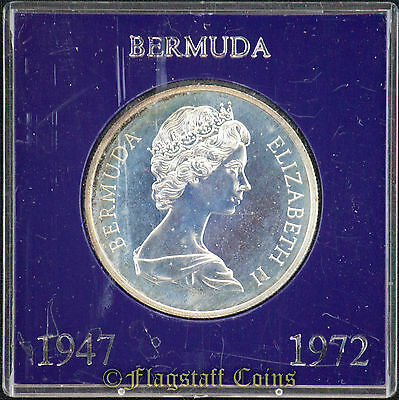 1972 Bermuda Dollar, Toned Proof, 25th Wedding Anniversary .841 Ounce Silver