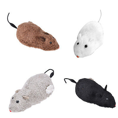 Wind Up Funny Running Mouse Rat Move Tail Cat Kitten Prank Toy Joking Gag HH
