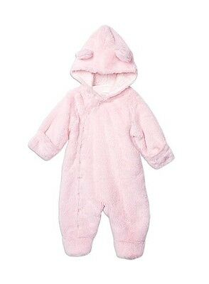 Pumpkin Patch Winter Pink Furry All-in-one Bear Suit