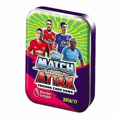 MATCH ATTAX 2016/17 EPL TRADING CARDS COLLECTOR TIN - Contains 36 Cards **NEW**