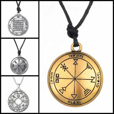 Pentacle Saturn Talisman Jupiter Key of Solomon Seal Pendant Kabbalah Necklace