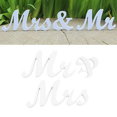 Mr & Mrs Letters Sign Wooden Standing Top Table Wedding Decoration Party