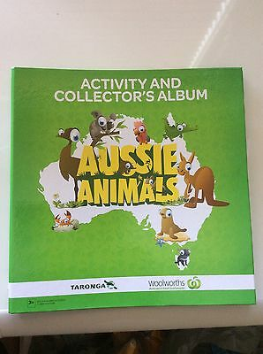 1 Full Set Of Woolworths ( 108 Aussie Animals ) Collector Cards + Album, New.