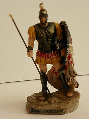 Greek Hoplite Soldier 4.93'' Figurine Warrior Statue  Historic Collectible Decor