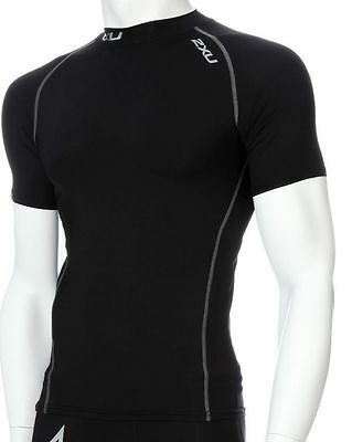 Bnwt Youth Size M 2Xu Short Sleeved Black Compression Top