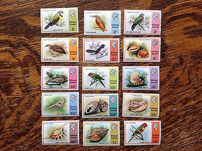 Nice Collection Of 15 Solomon Islands Stamps MNH