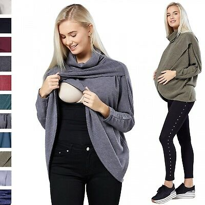 Happy Mama. Women's Maternity Nursing Wrap Top Thin Knitwear Double Layer. 370p