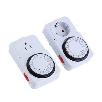 24 Hour Mechanical Electrical Plug Program Timer Power Switch Energy Saver LO
